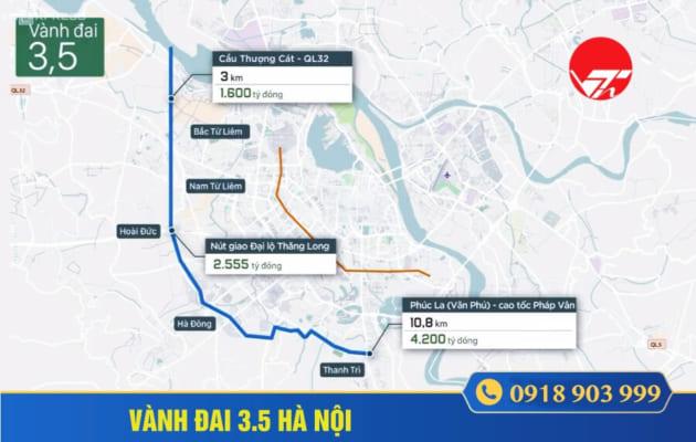 Quy hoạch đường vành đai 3.5