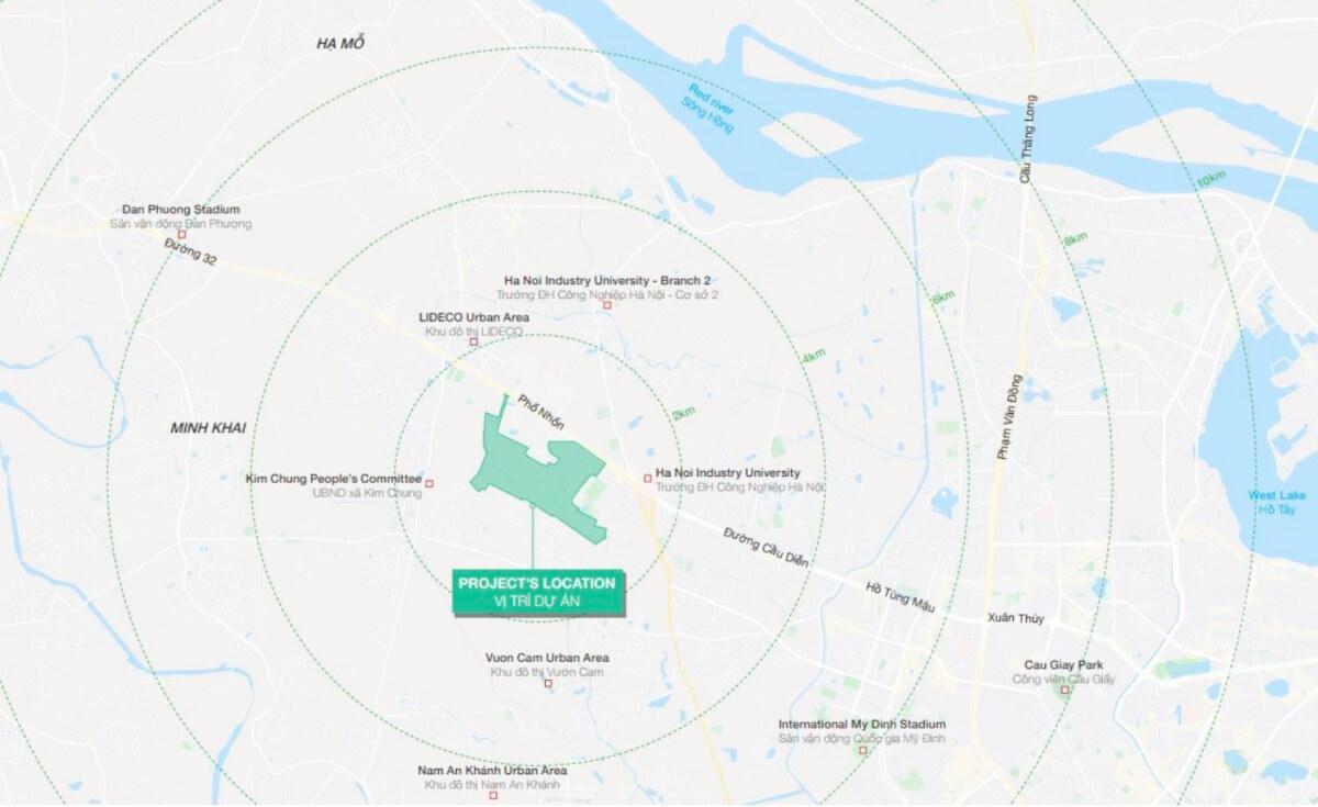 Vị trí khu đô thị Hinode Royal Park